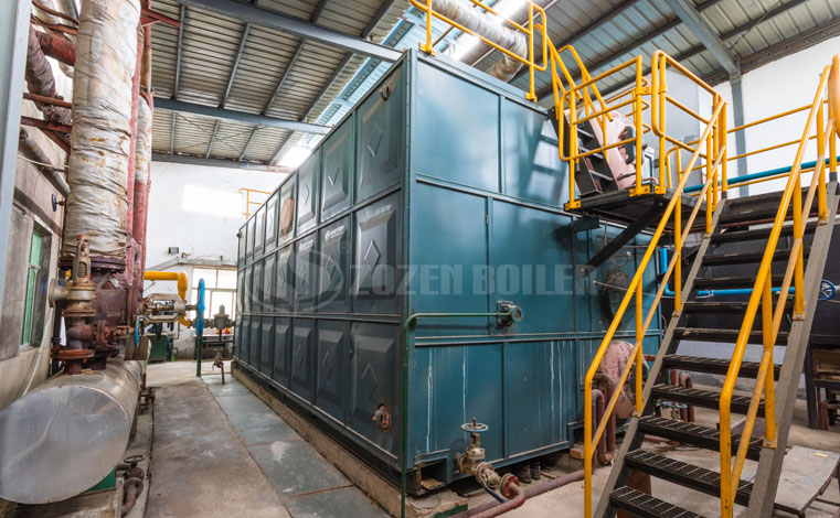 20 tph SZS gas-fired water tube boiler project for chemical industry